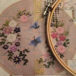 Embroidery Craft set, floral hoop, NWT
